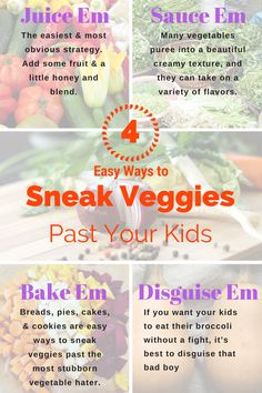 easy ways to sneak veggies