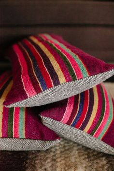 Image of limited edition pillow | woven peruvian pillow| non-perishable goods