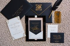 141. DeAndrea + Will - stationery- papellerie planner- belle of the ball events photographer- Marco Wang Photography