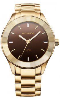 Relógio Feminino Technos Crystal Swarovski afe111948d