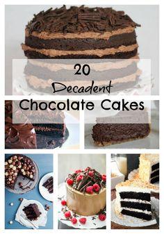 20 Decadent Chocolate Cakes Cake Frosting Recipe, Frosting Recipes, Cupcake Recipes, Cupcake Cakes, Cupcakes, Decadent Chocolate Cake, Chocolate Desserts, Chocolate Chocolate, Chocolate Heaven