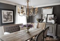 Kendall Charcoal in our Dining Room  by Dear Lillie: