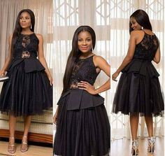 Knee Length Ball Gown Prom Dress Illusion Lace Sexy Little Black Dresses Cheap Short Party Gowns Robe De Soiree 2018 African Formal Dress Cheap Black Dress, Sexy Little Black Dresses, African Formal Dress, African Dress, Ball Gowns Prom, Party Gowns, Evening Gowns Online, Evening Dresses, Blue Bridesmaid Dresses