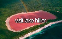 el lago rosa de australia conocido como Lago Hiller, se encuentra en Middle Island, al occidente de Australia