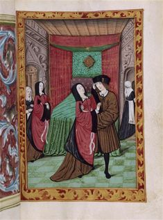 Histoire de Jean III de Brosse et de sa femme Louise de Laval. Mariage de Louis de Laval et de Jean III de Brosse en 1468. Painted in the early 16th c