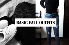 Basic fall outfits! Minimalist inspired fashion for fall weather. Lookbook.
