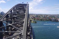 Sydney Harbour Bridge from the Pylon Lookout #pylonlookout #sydneyharbourbridgepylonlookout #sydneyharbourbridge #harbour #sydney #bridge #newsouthwales #australia #clouds #summer by gemma_bullen2 http://ift.tt/1NRMbNv