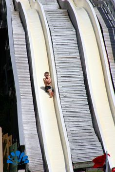 Thrilling flume rides at Buccaneer Bay.  Florida's only spring fed water park.