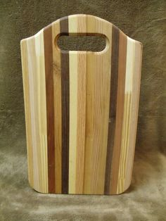 Wooden cutting board.