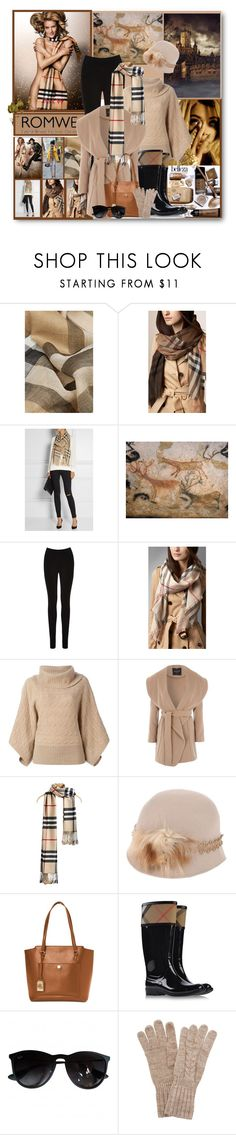 """""""romwe scarf"""" by citychiclifestyle on Polyvore featuring Burberry, Oasis, Polo Ralph Lauren, Jane Norman, Michi, Lauren Ralph Lauren, Ray-Ban and White House Black Market"""