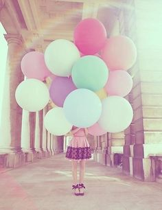 Balloons, love the shoes and the dress is.looking cute!