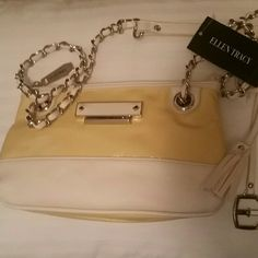 *NWT REDUCED* Ellen Tracy Crossbody Bag *NWT* Ellen Tracy Crossbody Bag, cream and white colored. Ellen Tracy Bags Crossbody Bags