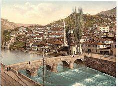 Sarajevo i., Sarajevo, looking toward Alifakovak, Bosnia - Austro-Hungary - Livingstone, Budapest, Sarajevo Bosnia, Austria, Amazing Gifs, Tourist Sites, Austro Hungarian, Central Europe, Bosnia And Herzegovina
