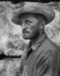 Kirk Douglas as Vincent Van Gogh in Lust For Life. - Kirk Douglas as Vincent Van Gogh in Lust For Life - Kirk Douglas, Vincent Van Gogh, Van Gogh Arte, Artist Van Gogh, Lust For Life, Art Van, Photocollage, Post Impressionism, Rare Photos