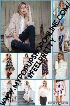 www.mypopupshoponline.com/#FeelPretty Online Boutiques, Feelings, Pretty