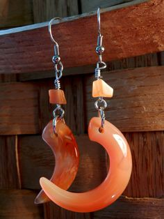 Hey, I found this really awesome Etsy listing at https://www.etsy.com/listing/190357671/natural-orange-stones-earrings