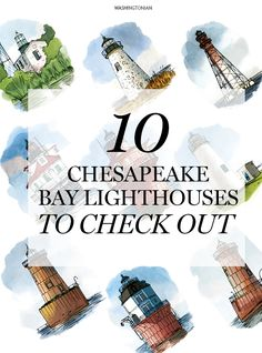 Be on the look out for these lighthouses on one of Captain Mike Richards' tours around the bay | Washingtonian