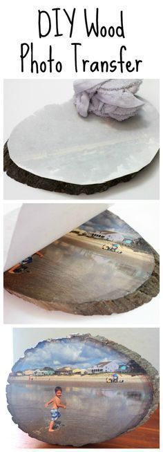 Learn how to easily transfer any photo onto a slice of wood using Silhouette temporary tattoo paper. Wood Photo Transfer, Paper Transfer To Wood, Foto Transfer, Transfer Images To Wood, Wax Paper Transfers, Image Transfers, Modge Podge Photo Transfer, Diy Candle Transfers, Photo To Wood
