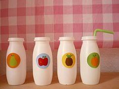 what to do with those little empty yoghurt bottles!