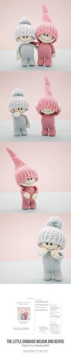 The Little Doodahs Wilbur and Bertie amigurumi pattern by LittleAquaGirl
