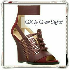 "GX by Gwen Stefani Ayaka wedge in bordeaux. Bohemian shoe with an edgy twist. The shoe features sculpted heel, knotted cord details, and strappy look. Soft faux leather and faux nubuck. Nice sturdy sole.   Details: heel 4-1/2"", the sole is pretty thick, it makes heel 4-1/4"". Runs a bit narrow. Comfy!  Please use only ✔OFFER  button for all price negotiations. I'll do a price drop⤵ for you for discounted shipping, if we agree about the price. GX by Gwen Stefani Shoes Sandals"
