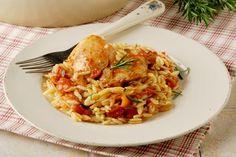 Γιουβέτσι κατσαρολάτο με κοτόπουλο και δεντρολίβανο
