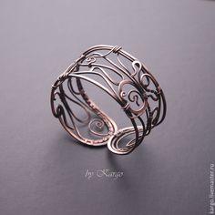Купить Браслет Le Brante - медь, браслет, широкий браслет, медный браслет, wire…
