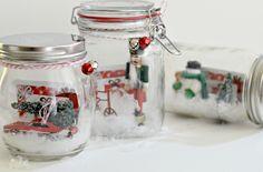Diy gift card snow globes gifts diy snow globe, diy gifts in Diy Gifts In A Jar, Diy Xmas Gifts, Easy Diy Gifts, Mason Jar Gifts, Diy Snow Globe, Snow Globes, Holiday Crafts For Kids, Kids Crafts, Gift Card Presentation