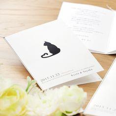 「キャット(猫)」招待状手作りセット http://www.farbeco.jp/shopdetail/036001000086/