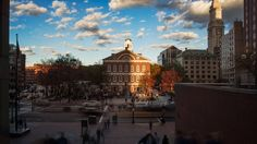 Boston's Faneuil Hall in Autumn [OC] [5120x2880]