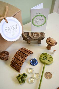 Fairy garden kit Believe stone bench fairy furniture by garnetteh
