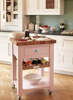 pink butchers block
