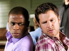 Shawn and Gus Shawn And Gus, Shawn Spencer, Movie Blog, Movie Tv, Patsy And Edina, James Roday, I Know You Know, Usa Network, Great Tv Shows