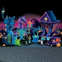 Unique Gift Idea - Nightmare Before Christmas Black Light Village Collection