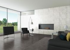 What do you think of this Living Rooms idea I got from Beaumont Tiles? Beaumont Tiles, Grey Floor Tiles, Grey Flooring, House Tiles, Extra Rooms, Metal Homes, Catalogue, Concrete Floors, Tile Design