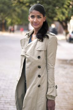 Carol Gracias photographed by Wearabout in New Delhi for Burberry Art of the Trench