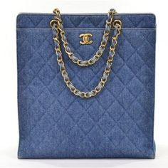 Chanel Quilted Denim Large Tote
