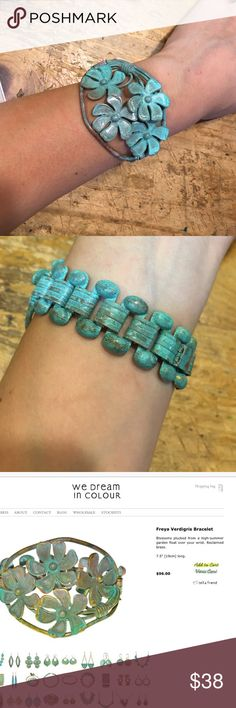 We Dream in Colour Freya Verdigris Bracelet Made in  from reclaimed brass- this piece retails $96! New, only worn for the cover photo We Dream in Colour Jewelry Bracelets