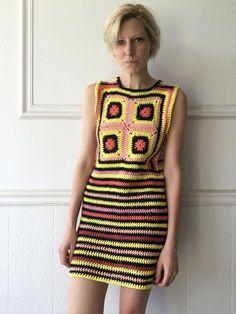 Sherbert Crochet mini dress by TessaPerlowInc on Etsy