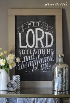 The Lord Stood With Me 24x36 Chalkboard Download