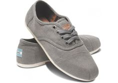size 7...   shoes that give a pair to someone else too!    Taupe Waxed Twill Women's Cordones hero