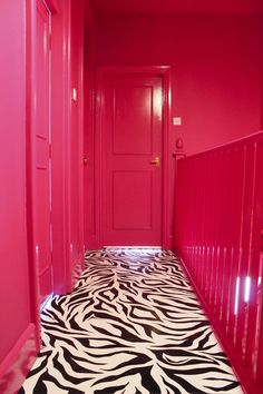 Amy Exton's amazing zebra floor inspired by Laurence Llewelyn-Bowen (of course). From the Margate Location House interior designer Amy decorated for shoots and renting.