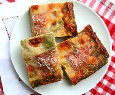 Pesto Pizza Bread and Carapelli Olive Oil