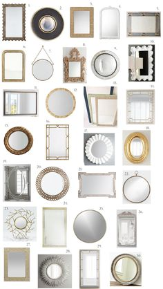 Elements of Style Blog | Round up: Mirrors of All Sizes | http://www.elementsofstyleblog.com