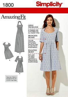 Simplicity Sewing Pattern 1800 Misses by HeavenztoBetsyDesign