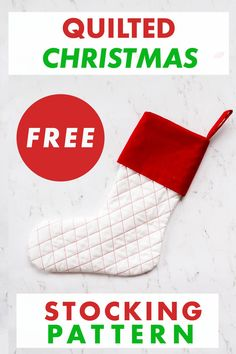 Sew a Quilted Christmas Stocking with this FREE Christmas Stocking Sewing Pattern. The Christmas Stocking Template comes with two options. Make either a basic Quilted DIY Christmas Stocking or a toe and heel patch stocking. The Homemade Christmas Stocking Tutorial Instructions are step by step and easy to follow. Add this to your list of Christmas Sewing Projects and get the pattern now! Beginner Quilting, Quilting For Beginners, Quilting Tips, Christmas Sewing Patterns, Christmas Sewing Projects, Homemade Christmas, Diy Christmas, Christmas Stocking Template, Quilted Christmas Stockings