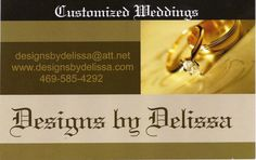 Designs by Delissa Customized Weddings - information