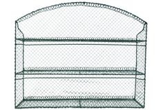 Large Green Wire Wall Rack