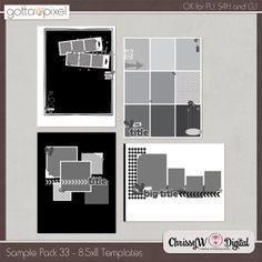 Sample Pack 33 - 8.5x11 Templates :: Gotta Pixel Digital Scrapbook Store