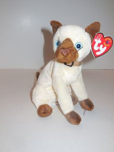Ty Beanie Baby Siam the Siamese Cat 2001 NWMT #Ty